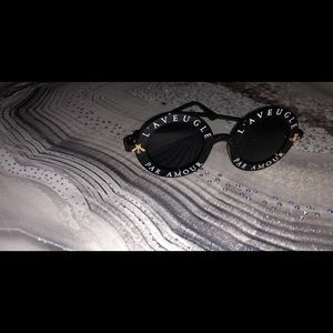 Accessories - Oval blackout Sunglasses